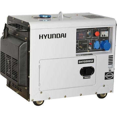 Generatore di corrente silenziato Hyundai 65237 - DHY8000SE con AVR