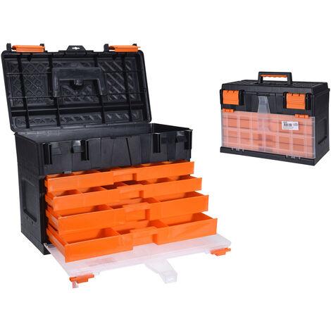 Generic Boîte de rangement avec 8 compartiments 45 x 26 x 32 cm