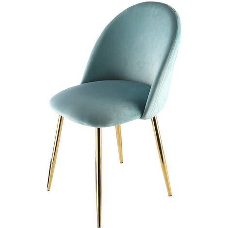 Genesis METIS Chair in Velvet Fabric - Blue Tint
