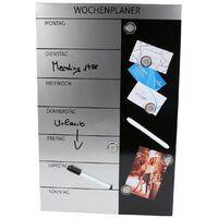 GENIE Wochenplaner Magnettafel Terminplaner Blackboard Wandtafel Pinnwand Magnet
