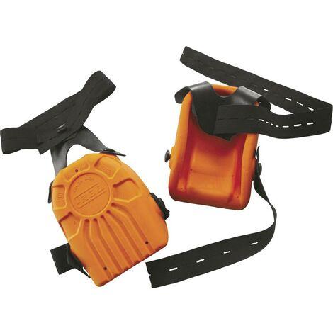 Genouillère en mousse-PU L+D Upixx 2484 DIN EN 14404 Niveau de performance: 2 orange 1 paire(s)