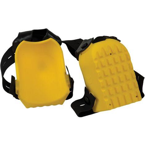 Genouillères jaunes 2 lanières DIN - Mob/ Mondelin