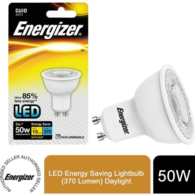 Image of Energizer GU10 LED Energy Saving Lightbulb (370 Lumen) Daylight, 5 W