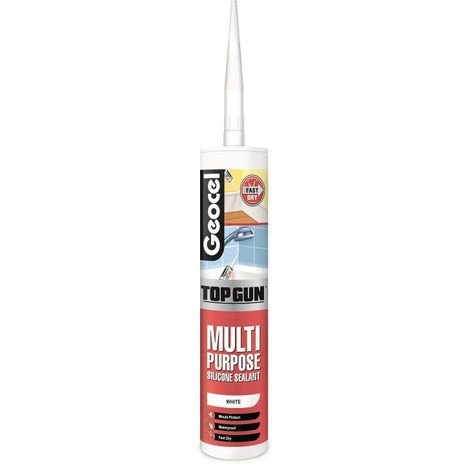 Geocel Top Gun Multi Purpose Silicone Sealant White