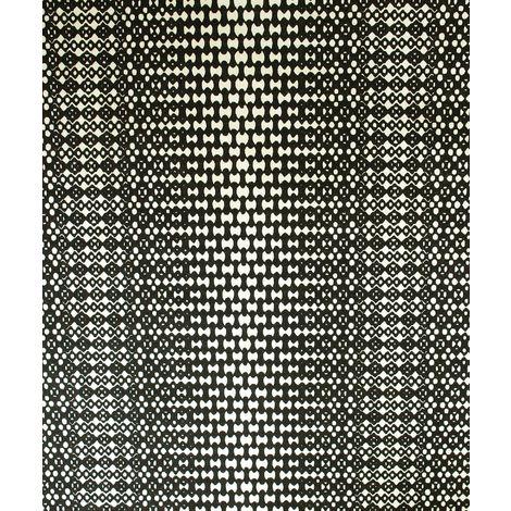 Geometric Black White Wallpaper Majestic GranDeco Cream Paste The Wall Vinyl