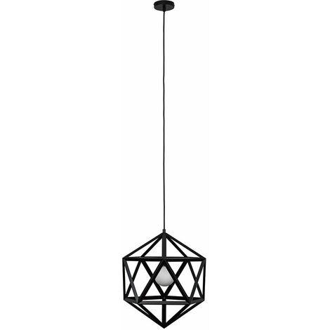 Geometric Ceiling Pendant Light - Matt Black - Black