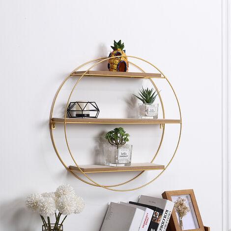 Geometric Floating Wall Display Shelf Storage Rack