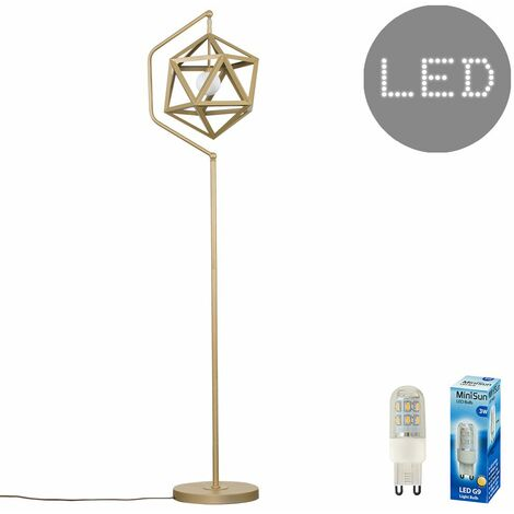 Geometric Floor Lamp + 3W LED G9 Bulb