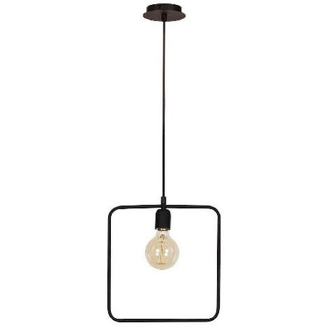Geometric Hanging Lamp - Chandelier - Cheiling Lamp - Black made of Metal, Electrostatic Paint, 30 x 12 x 123 cm, 1 x E27, Max 100W