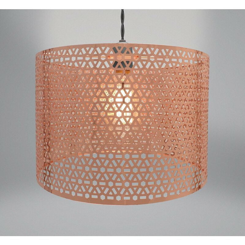 Image of Geometric Light Fitting - Copper (31 x 20cm) - BEAMFEATURE