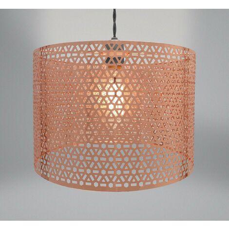 "main image of ""Geometric Light Fitting - Copper (31 x 20cm)"""
