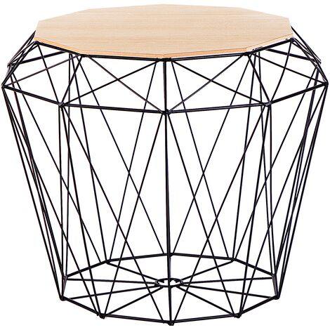 Geometric Side Table Black ELIDA