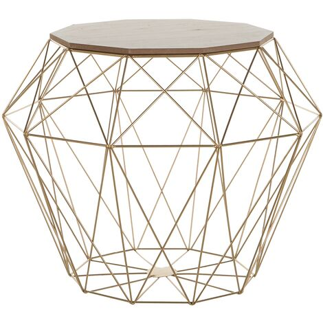 Geometric Side Table Gold Elida
