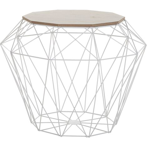 Geometric Side Table White ELIDA