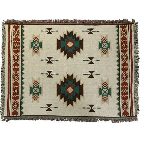 Geometric Tapestry Rug Cushion Home Decor 125x150cm