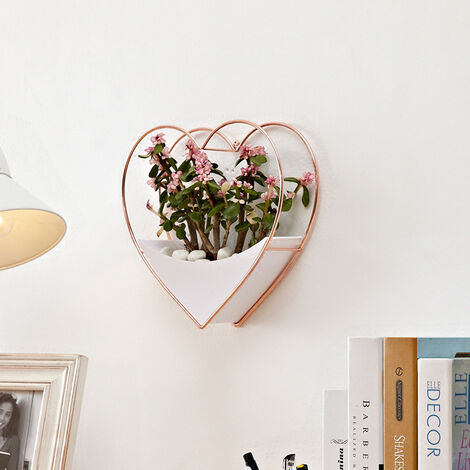 Geometric Wall Hanging Acrylic Planter Vase Artificial Flowers Pots