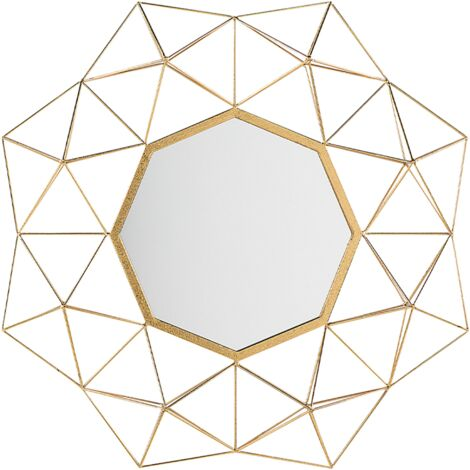 "main image of ""Geometric Wall Mirror Retro Vintage Living Room Hallway Decor Gold Gaillac"""