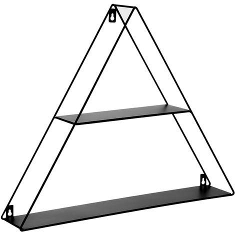 Geometric Wall Shelf Black NORDEN