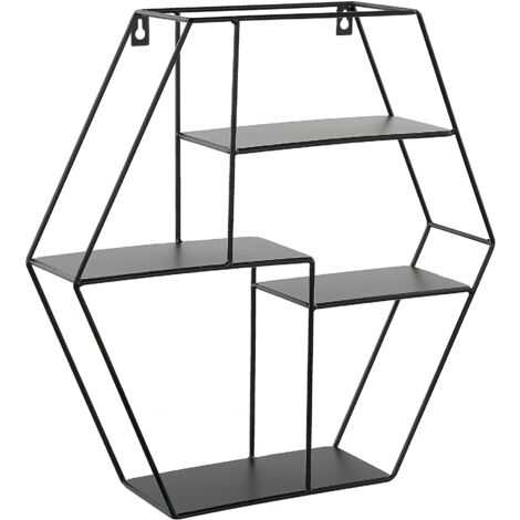 Geometric Wall Shelf Black TIGARD