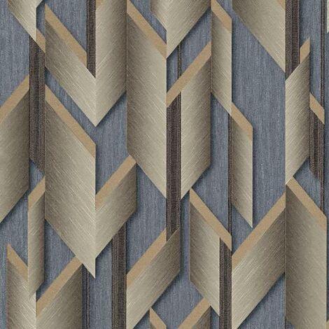Geometric Wallpaper Silver Gold Textured Glitter Erismann Paste The Wall Vinyl