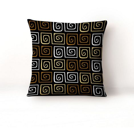 Geometrico Cushion Cover - Geometric, Cushion - Square - for Sofa, Bed - Multicolor made of Polyester, 45 x 45 cm