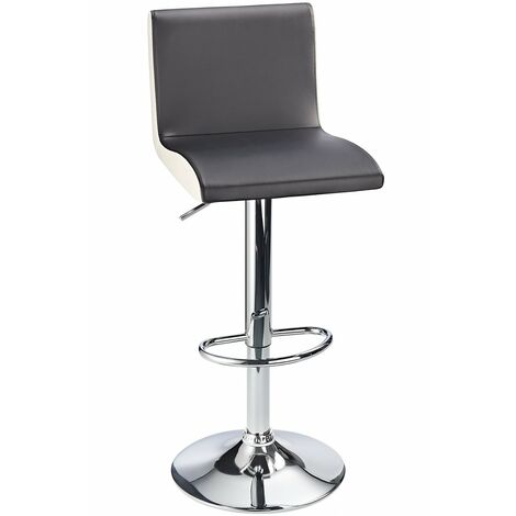 Georgia Padded Bar Stool With Contrasting Side Panels- Black