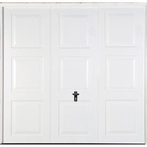 "Georgian 7' 6 "" x 6' 6 "" Frameless Steel Garage Door White"