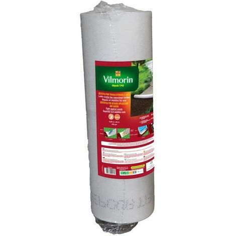 Géotextile recyclé pour travaux extérieurs 100 g/m² 0,50m x 50m Vilmorin
