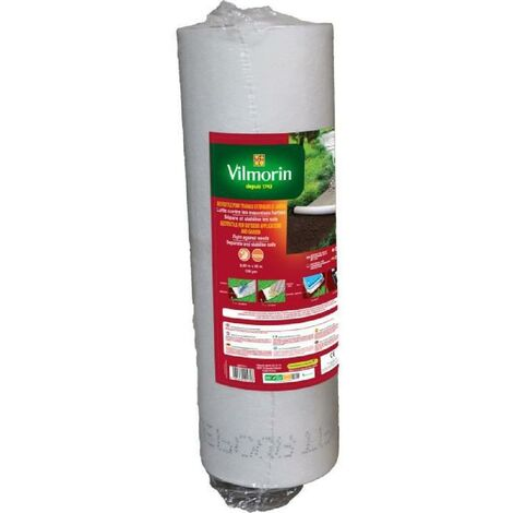 Géotextile recyclé pour travaux extérieurs 100 g/m² 0.50m x 50m Vilmorin