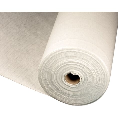 Géotextille rouleau blanc 100g / m2 2x25 mètres (50m2)