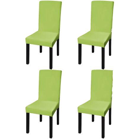 Gerader Stretch Stuhlbezug 4 Stück Grün
