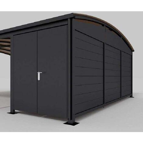 Gerätehaus für Doppelcarport Calux