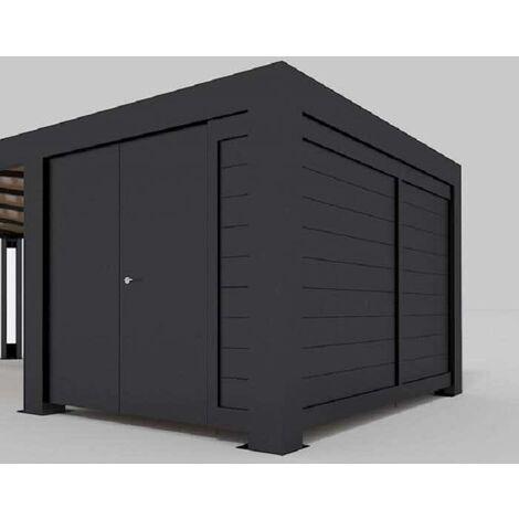 Gerätehaus für Einzelcarport Cubus