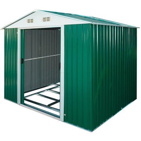 Geräteschuppen Gerätehaus Schuppen Gartenhaus Gartenschuppen Leeds Metall 4.8 qm