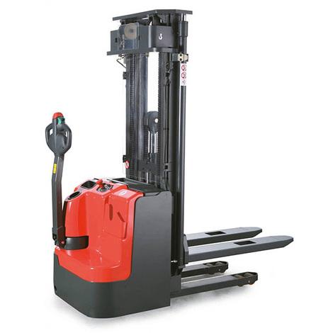 Gerbeur électrique à mât duplex & levée et descente proportionnelle (plusieurs tailles disponibles)