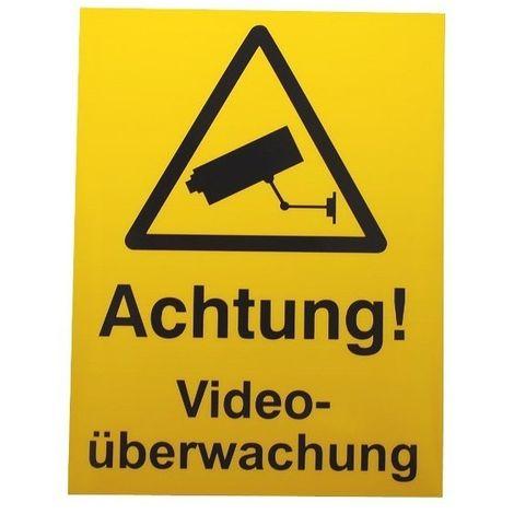 German Language CCTV Warning Window Sticker [002-0544]