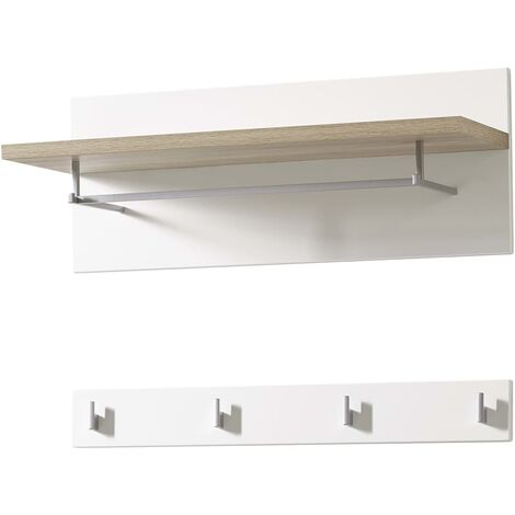 Germania Coat Rack Panel Oslo 76x32.5x30 cm Sonoma-oak and White