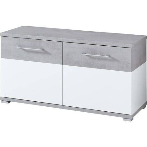 Germania Shoe Cabinet Topix 96x40x50.4 cm White and Concrete