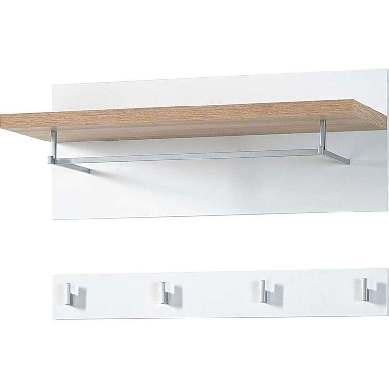Image of Germania Wardrobe Panel Top White and Sanremo Oak 3193-178 - Beige