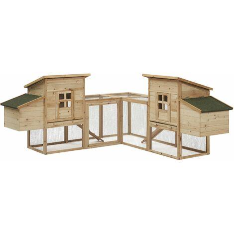 Gertrude - Enclos poulailler 4 poules en bois avec 2 pondoirs