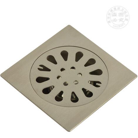 """main image of """"Geruchssicherer Edelstahl-Bodenablauf Quadratischer Badezimmer-Abfluss-Gate-Duschabfluss-Bodenablauf mit abnehmbarer Siebabdeckung"""""""