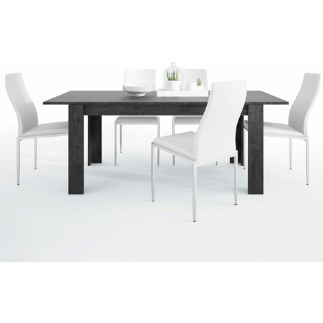 Gerzing Dining set package Gerzing Dining table + 6 Lillie High Back Chair White.