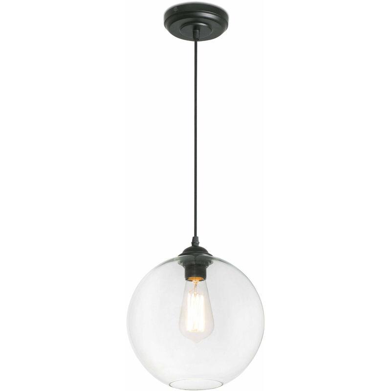 08-faro - Clara transparente Pendelleuchte 1 Glühbirne