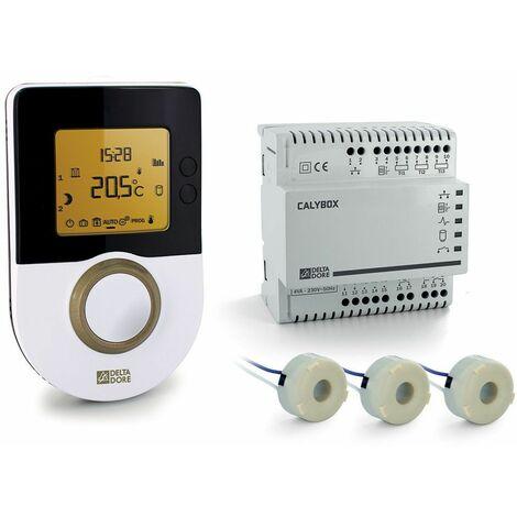 Gestionnaire d'énergie 2 zones pour chauffage effet joule (électrique) - CALYBOX 1020 WT - RT 2012