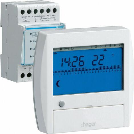 Gestionnaire énergie confort chauf élec 1 zone sur 7 jours 230V (49110)