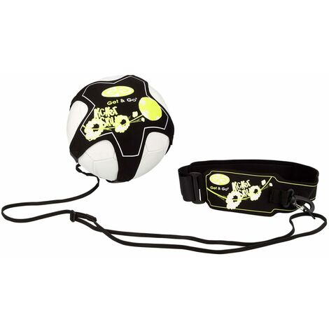 Get & Go Football Skill Trainer Black and Yellow