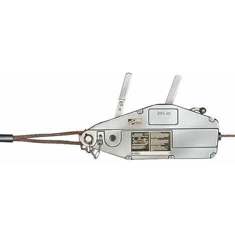 GEWA cable avec bube de levee, cable et Devidoir a main, Type Y 08, force de traction 800 kg, L de cable 20 m