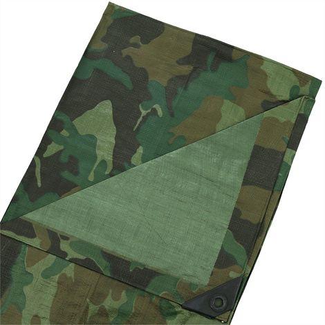 Gewebeplane camouflage 140g/m² in verschiedene Abmessungen Gartenplane Bootsplane Tarnfarbe Abdeckplane Schutz-Plane