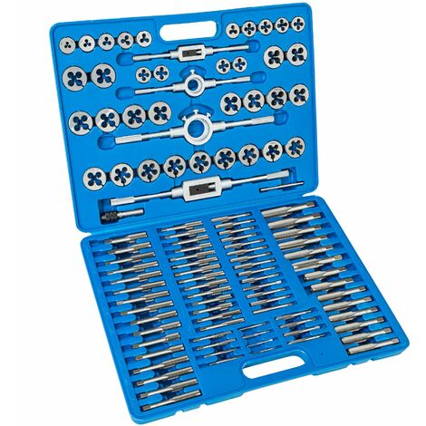 Gewindeschneider Set 110-tlg. - Gewindebohrer, Gewindeschneidsatz, Gewindebohrer set - blau
