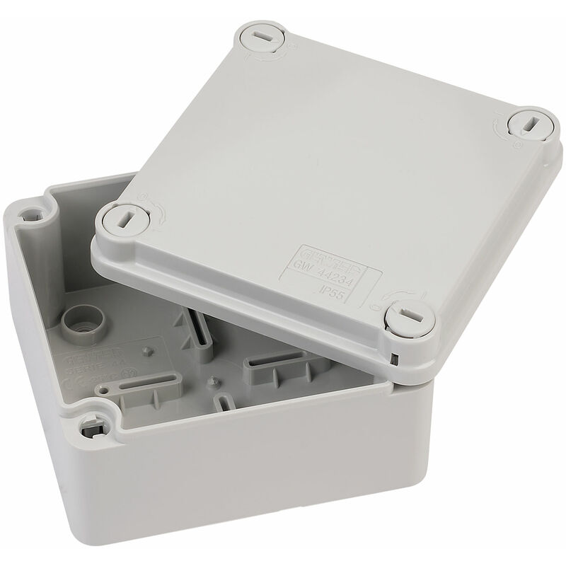 GEWISS GW44007 JUNCTION BOXES WITH PLAIN SCREWED LID IP55 190X140X70mm